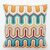 Abigails Crewel Geometric Embroidery Wool Throw Pillow