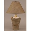 "Coast Lamp Mfg. Coastal Living Bucket of Shells 27.5"" H Table Lamp with Empire Shade"