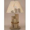 "Coast Lamp Mfg. Coastal Living Dock Pilings 29"" H Table Lamp with Empire Shade"