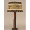 """Coast Lamp Mfg. Rustic Living Iron Rod 30"""" H Table Lamp with Empire Shade"""