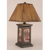 "Coast Lamp Mfg. Rustic Living Square Pot 30"" H Table Lamp with Square Shade"