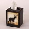 Coast Lamp Mfg. Deer Square Tissue Box Cover
