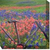 West of the Wind Outdoor Canvas Art Wheel in Field Wrapped Photographic Print on Canvas