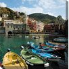 West of the Wind Outdoor Canvas Art Cinque Terre Wrapped Photographic Print on Canvas