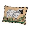 Rennie & Rose Design Group Sheep Hooked Boudoir/Breakfast Pillow
