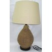 "Santa's Workshop Jute Jug 26.5"" H Table Lamp with Drum Shade"
