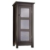 Elegant Home Fashions Chesterfield Floor Cabinet with 1 Glass Door