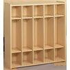 TotMate 2000 Series 1 Tier 5-Section Cubbie Preschool Locker