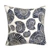 Rightside Design Beaded Nautilus Shell Linen Throw Pillow