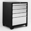 "NewAge Products Pro Stainless Steel 28"" W 5 Drawer Bottom Cabinet"
