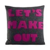 Alexandra Ferguson It Start With A Kiss Let's Make Out Throw Pillow