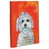 One Bella Casa Doggy Decor Girl's Best Friend Graphic Art on Canvas