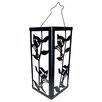 Creative Motion Reflection Hummingbird and Plant Lantern Color Change Solar Light