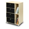 Furinno Steam Beech Living Multipurpose Storage Cabinet Bookcase Dresser