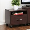 Furinno Indo Petite Under Desk Utility Cart with Casters