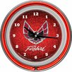 "Trademark Global Pontiac 14.5"" Firebird Double Ring Neon Wall Clock"