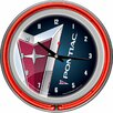 "Trademark Global Pontiac 14.5"" Double Ring Neon Wall Clock"
