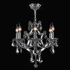 Worldwide Lighting Lyre 6 Light Crystal Chandelier