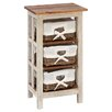 Woodland Imports Antiqued Rattan 3 Drawer Chest