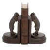Woodland Imports Polystone Leaning Cat Book Ends (Set of 2)