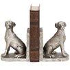 Woodland Imports Shiny Dog Book Ends (Set of 2)