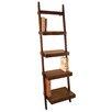 """Woodland Imports 69"""" Leaning Bookcase"""