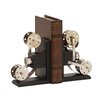 Woodland Imports The Cinema Wood Metal Book Ends (Set of 2)