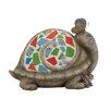 Woodland Imports The Cutest Polystone Mosaic Turtle Figurine