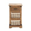 Woodland Imports Rural Wood / Metal Basket Chest