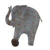 Woodland Imports Artistic Styled Exclusive Wood Painted Elephant Figurine