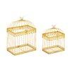 Woodland Imports 2 Piece Beautiful Metal Acrylic Decorative Bird Cage