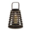 Woodland Imports Attractive Wood Glass Lantern
