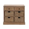 Woodland Imports The Cool Wood 4 Basket Chest