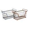 Woodland Imports The Amazing Metal Basket (Set of 2)