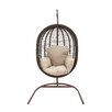Woodland Imports The Lovely Metal Rattan Swing Chair