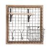 Woodland Imports Enthralling Wood Metal Wall Strong Rack