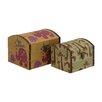 Woodland Imports Mesmerizing 2 Piece Wood Canvas Box Set