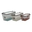 Woodland Imports 3 Piece Simply Too Useful Metal Basket Set