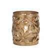 Woodland Imports Styled Metal Glass Hurricane