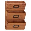 Woodland Imports Wood Wall Letter Holder
