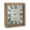 Woodland Imports Timelessly Rustic Wood Wall Clock