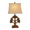 "Woodland Imports Stylishly Crafted 30"" H Table Lamp with Rectangular Shade"