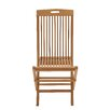 Woodland Imports Comfortable Wood Teak Folding Chair