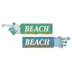 Woodland Imports 2 Piece Fascinating Styled Wood Beach Wall Décor Set