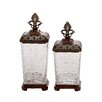 Woodland Imports 2-Piece Glass Jar Set