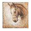 Woodland Imports Antique Horse Painting Print on Wrapped Canvas