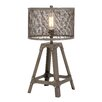 "Woodland Imports Superb Unique Styled Metal 23"" H Table Lamp with Drum Shade"