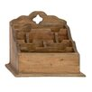 Woodland Imports Simple and Distinctive Wood Letter Holder