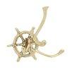Woodland Imports Priceless Brass Ship Wheel Hook