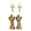 Woodland Imports Captivating and Unique Angel Candle Holder (Set of 2)